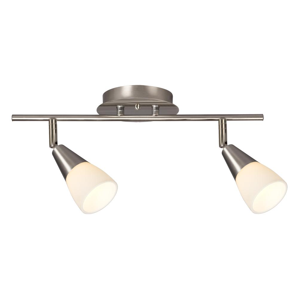 2 Light Led Track X 3 5w In Brushed Nickel W