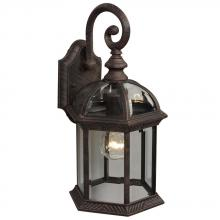 Galaxy Lighting 301390AR - Outdoor Cast Aluminum Lantern - Antique Rust w/ Clear Beveled Glass
