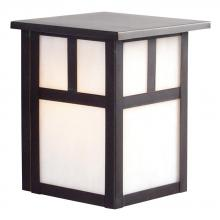 Galaxy Lighting 306100OBZ - Outdoor Wall Fixture - Old Bronze w/ White Marbled Glass