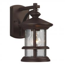 Galaxy Lighting 319730BZ - Outdoor Wall Mount Lantern - in Bronze finish with Clear Seeded Glass