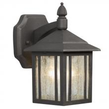 Galaxy Lighting 334020BK/WL - Outdoor Cast Aluminum Lantern - Black w/ Clear Seeded Glass